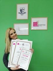 Kristina Raković, kurs profesionalnog šminkanja