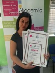 Kristina Mihajlović, kurs profesionalnog šminkanja