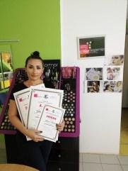 Jelena Nikolić, kurs profesionalnog šminkanja