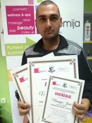 Nemanja Jović, kurs profesionalne masaže