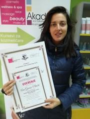 Ana Gaćeša Nikolić, kurs nadogradnje noktiju sa nail art-om