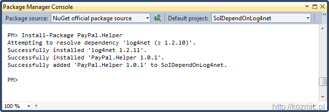 nuget_log4net_fail_avoided