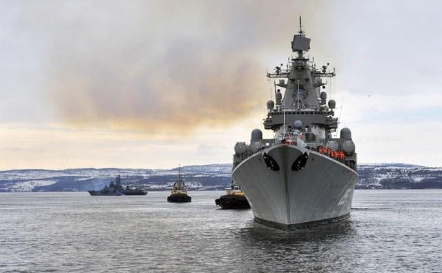 Група російських бойових кораблів зайшла в Середземне море