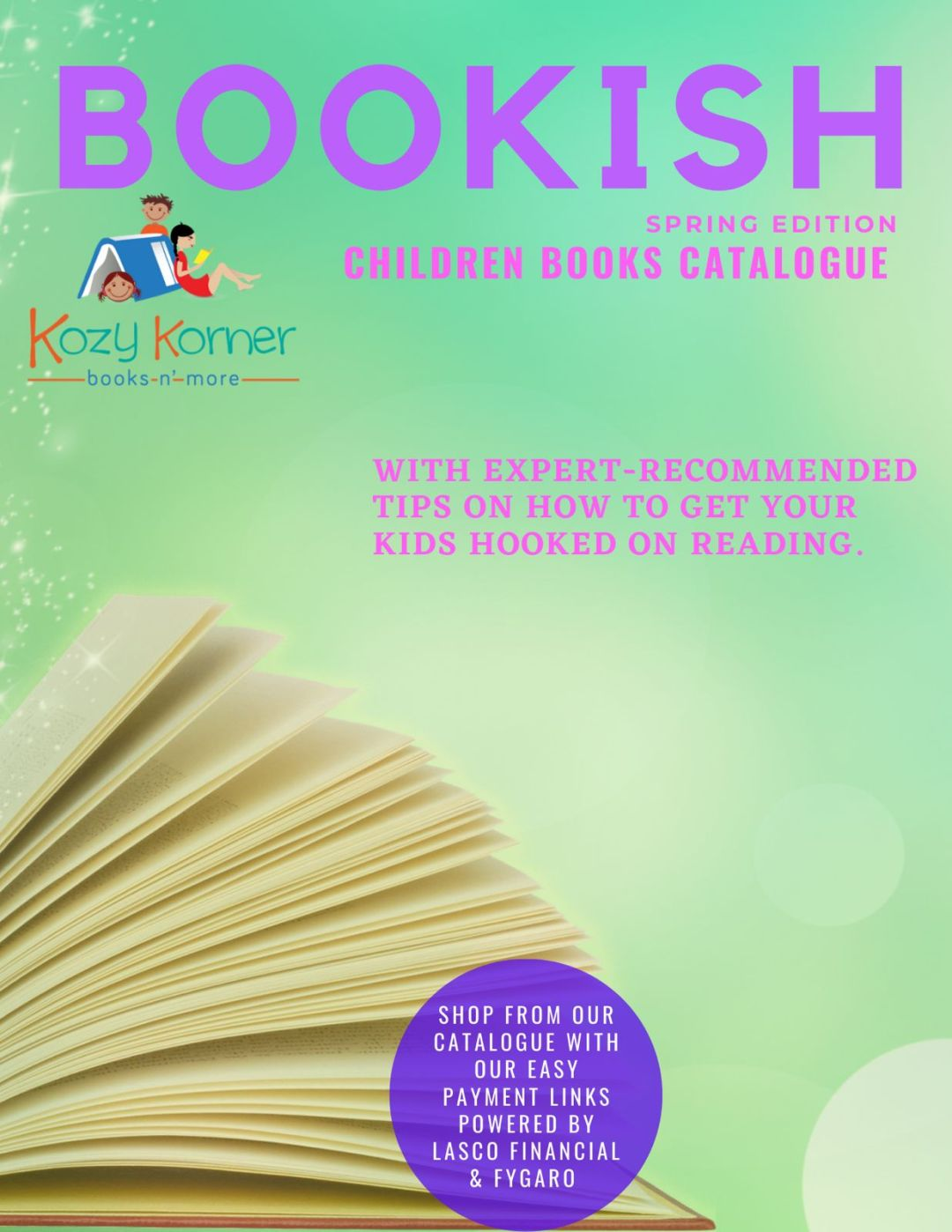 Bookish Catalogue Spring Edition Cover Page