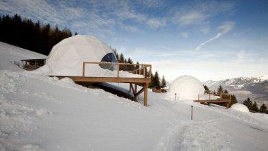 Photo of Komfortos hókunyhók a svájci Alpokban