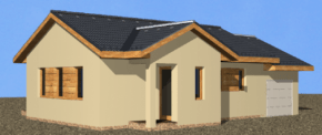 Photo of 101 m2-es egyszoba + nappalis családi ház típusterv