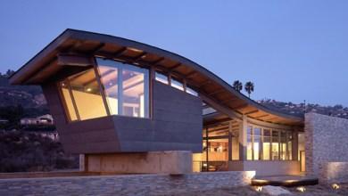 Photo of Egy tengerparti ház szokatlan tetővel