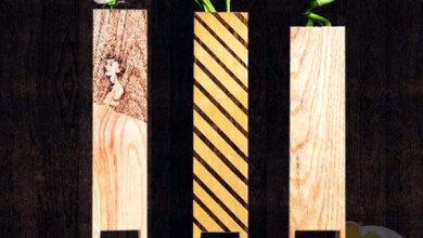 Photo of Vékony és művészi vázák fából
