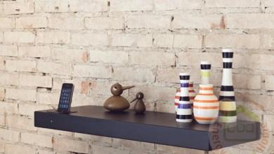 Photo of Minimalista polc beépített  iPhone és iPod dokkolóval