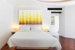 white master bedroom interior