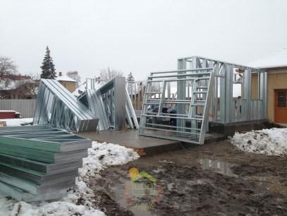 A tél ellenére elkezdjük a házépítést és 80 nap múlva lehet költözni...