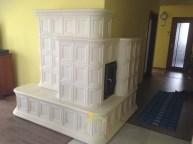 Cserépkályha egy szegedi hagyományörző stílusban épült könnyűszerkezetes házunkban