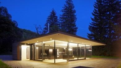 Photo of Modern nyaraló fából és üvegből