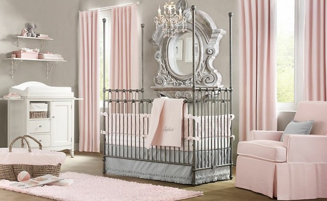 Elegant-pink-white-gray-baby-girl-room-665x409