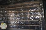 Falszerkezet párazárása és gépészeti számára lécváz szerkezet.
