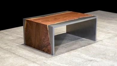 Photo of Acél és fa dohányzóasztal a Johnhoushmandtól