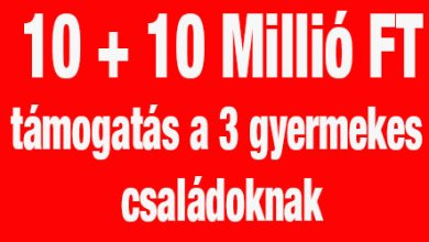 Photo of 20 millió forintot fizet a kormány azoknak, akik most építkeznek és 3 gyereket válallnak, melynek felét vissza sem kell fizetni