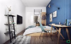 bedroom-with-eclectic-shades-of-blue