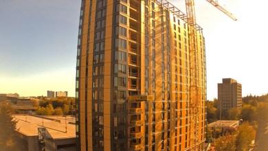 Photo of 18 emeletes, 55 méter magas faházat építettek 66 nap alatt