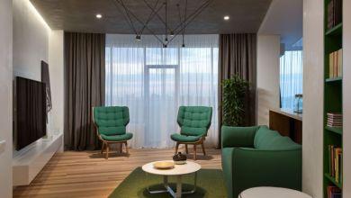 Photo of A zöld és barna árnyalatai egy lakásban