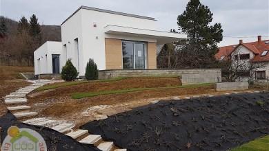 Photo of Minimál stílusú lapostetős családi ház építés képei (Nagykovácsi)