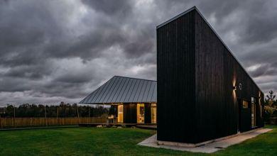 Photo of Modern ház érdekes geometrikus homlokzattal