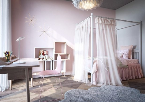 pretty-pink-bedroom-decor-for-princess-theme