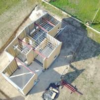 Családi ház építés légifotó