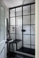 Black-and-white-subway-tiles-shower-design