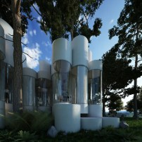 A-house-made-of-cylinders-that-are-juxtaposed-to-form-flexible-spaces