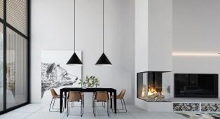 Black-white-dining-room