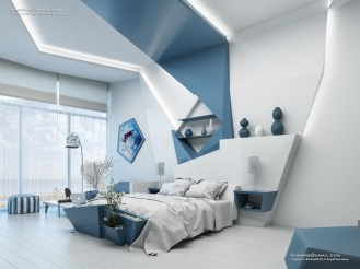 blue-and-white-geometric-feature-accent-wall-panels