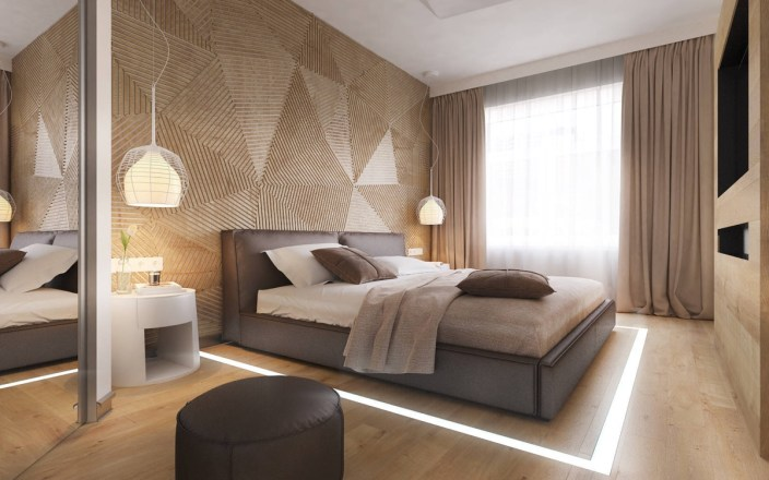slatted-wooden-geometric-bedroom-focal-wall-design-ideas