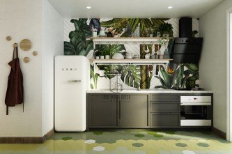 Green-grey-kitchen-decor
