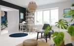 ikea-sinnerlig-light-navy-mat-contrasting-apartment