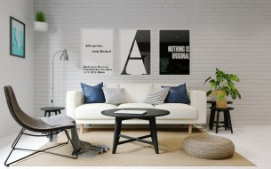 monochrome-typographic-prints-contrasting-lounge