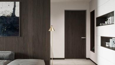 Photo of Modern otthon sötét diófa panelekkel