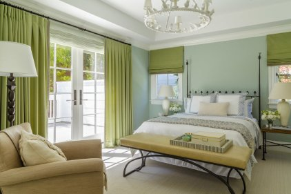 Traditional-pastel-green-bedroom-matching-curtains