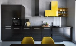 One-wall-kitchen-with-dining-table