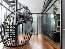 Singapore-interior-design-house-with-a-metallic-spiral-staircase