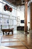 GitHub-HQ-lounge-space-with-hanging-motorcycle-decor