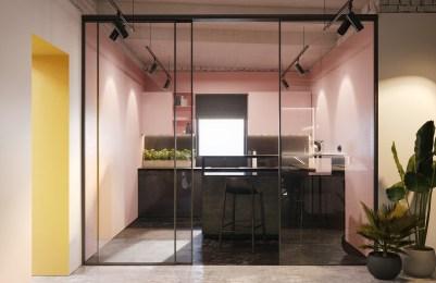 pink-black-kitchen