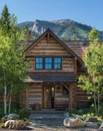 Rustic-mountain-residence-in-in-Teton-Valley-Wyoming-Front-Door