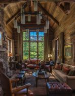 Rustic-mountain-residence-in-in-Teton-Valley-Wyoming-living-room