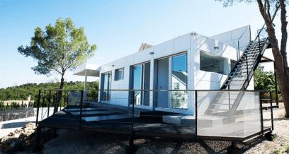 Könnyűszerkezetes moduláris ház 2 elemből építve