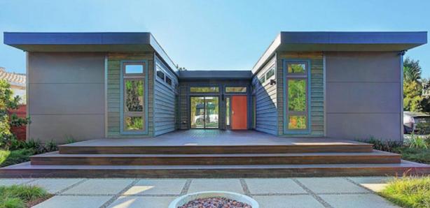 3 modulból épített családi ház