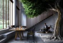 Photo of Az olasz parasztház hatalmas élő fával büszkélkedik a nappali közepén