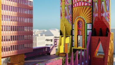 Photo of Adam Nathaniel Furman Demokratikus emlékműve színes koncepcióként szolgál a városházák számára