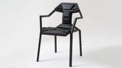 Photo of Sandro Lominashvili hangya-szerű dizájner széke puzzle-ként áll össze