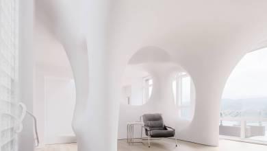 Photo of Szögletes formákat megtagava szabálytalan, dinamikus térbeli formákat hozott létre az OPA Architects